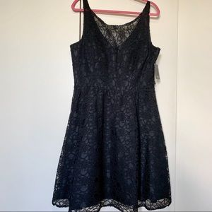 MARINA BLACK LACE DRESS SIZE 16